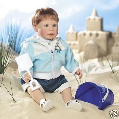 """Lee Middleton Dolls Building Sand Castles, Artist Studio 21"""" Vinyl and Cloth"""