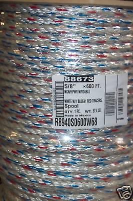 "5/8"" x 150' Bull Rope, Arborist Rope, Utility Rope"