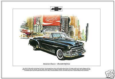 American Classics - 1951 CHEVROLET STYLELINE  Art Print