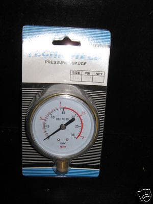 15 Psi 1/4 Npt Pressure Gauge For Regulator Red Line Acetylene 2