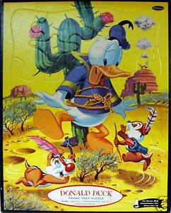 DONALD-DUCK-1960-Whitman-4428-Tray-Puzzle