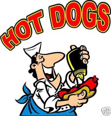 Concession Hot Dogs Decal 14 Cart Food Truck Vendor Vinyl Menu Sticker