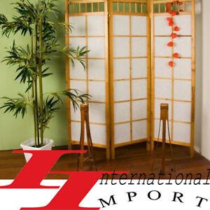 Paravent cloison porte cuisine bois meuble de salon ebay for Porte salon en bois
