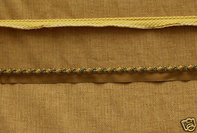 Textured Gold Fabric With 2 Elegant Pieces Of Trim