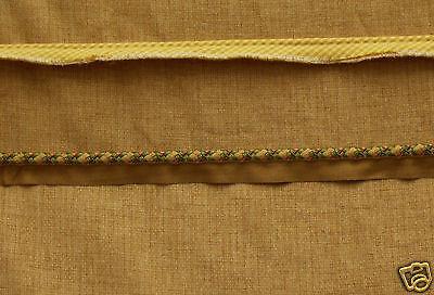 Textured Gold Fabric With 2 Elegant Pieces Of Trim