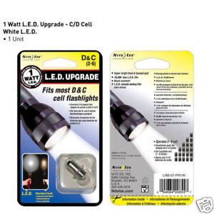 NEW-Nite-Ize-1-Watt-D-or-C-LED-Upgrade-Kit-for-Mag-Lite