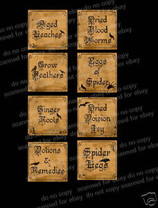 Halloween-Small-Jar-Labels-FH135-Great-For-Jars-Tins-Bags-Cards-Candles