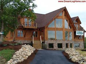 Log cabin home package log kit for 3400 sf home for Log cabin packages for sale