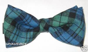 BOW-TIE-ANCIENT-CAMPBELL-CLAN-TARTAN-WORSTED-WOOL-MADE-IN-SCOTLAND-KILTWEAR-KILT