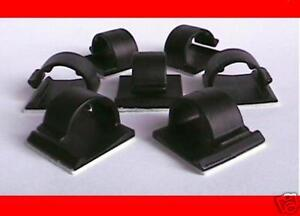 5 CLIPS BLACK OR GRAY CORD CABLE CLIP COMPUTER GPS WIRE ...