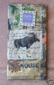 Moose Terry Towel Kay Dee Moose Trail Pattern Kitchen