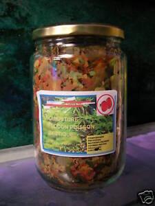Nourriture en paillette pour poissons aquarium 750ml ebay for Paillette poisson