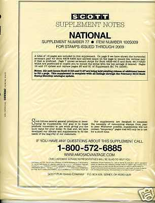 2009 Scott National U.s. Album Supplement