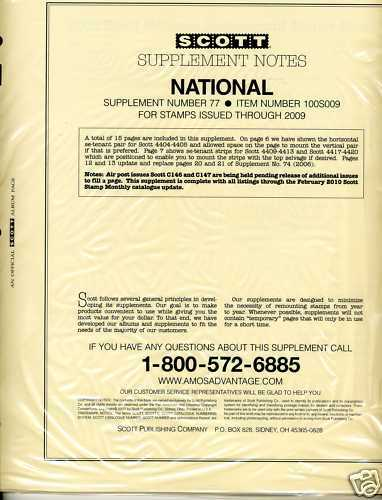 2007 Scott National U.s. Album Supplement