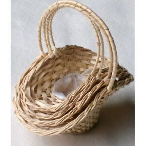 Wicker-Wedding-Flowergirls-Posy-Favour-Baskets-Set-4