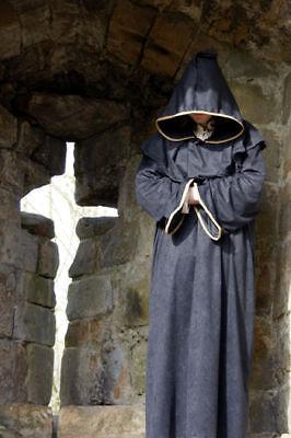 Medieval/larp Fancy Dress Deluxe Monk/pilgrim All Sizes