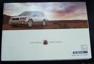 2003-subaru-forester-owners-manual-new-original-parts-service