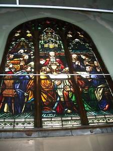 The-Last-Supper-painted-amp-Fired-Leaded-Church-Window