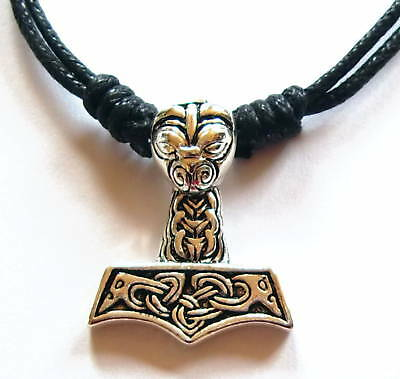 Thors Hammer Wikinger Walhalla Odin NORDLAND THORHAMMER Anhänger Kette Keltisch