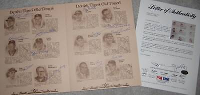 1980 Cubs' OLD TIMERS DAY Signed Program w/ PSA/DNA LOA