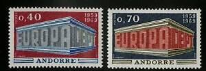 Andorra-French-1969-Scott-188-189-MNH-Set