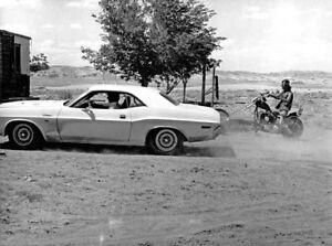 Vanishing Point Mopar Dodge Challenger 8x10 B W Still 32