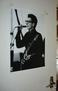 ELVIS COSTELLO B&W LIVE ON STAGE 1977 Poster