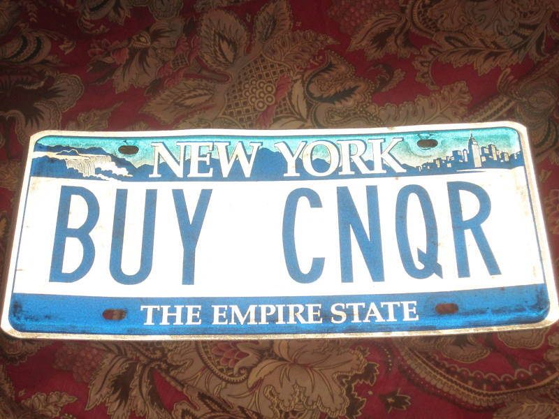 BUY CNQR New York State License Plate