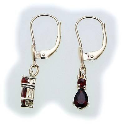 Women's Earrings M. Granat In Gold 585 Yellow Gold Earrings Hanging 6989/5gr