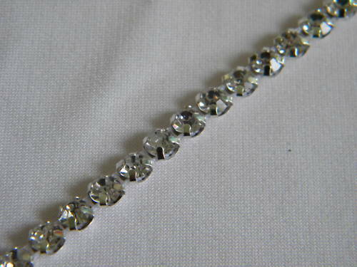 10yards Rhinestone Trim Crystal Banding Silver-wm3/16