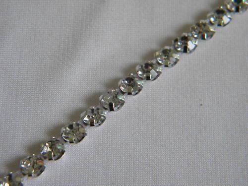 10yards Rhinestone Trim Crystal Banding Silver-wm3/16
