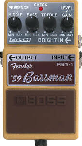 FREE-SHIP-BOSS-FBM-1-039-59-FENDER-BASSMAN-BASS-FBM1-PEDAL