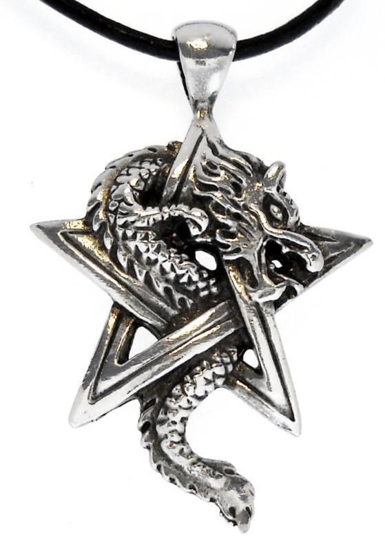 Pentagram silver pewter pendant | Shop pentagram silver pewter