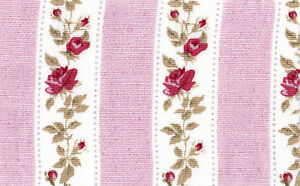 Cotton-Curtain-Upholstery-Bedding-Clothworks-Fabric-Shabby-Floral-Rose-Pink-44-039-W