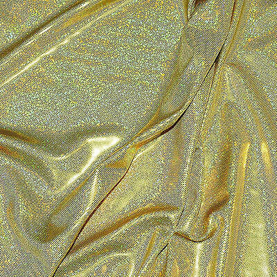 Spandex Hologram Lycra Gold 58 Wide By The Yard