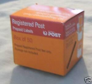 #D4. AUSTRALIA POST PREPAID REGISTERED LABEL BOX - EMPTY
