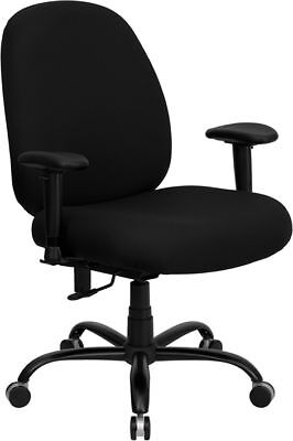 Big Tall Fabric Computer Desk Office Chair With Arms 400 Lbs. Weight Capacity