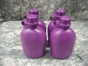 NEW-US-MILITARY-1-QUART-PLASTIC-CANTEEN-PURPLE-4-PACK