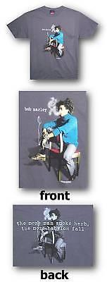 BOB MARLEY SMOKE HERB BABYLON FALL GREY T-SHIRT 2XL NEW