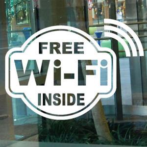 FREE WI FI WINDOW DECAL STICKER BUSINESS SIGN X EBay - Window decal sticker