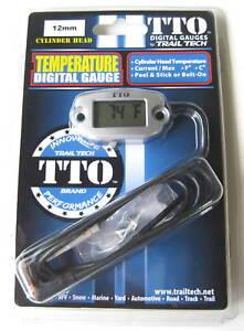 Trail-Tech-TTO-Temperature-Meter-Digital-Gauge-12mm-Spark-Plug-Sensor-ET2-NEW