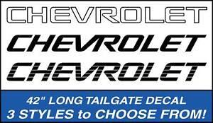 CHEVROLET TRUCK TAILGATE DECAL K1500/K2500/Silverado (Fits: Chevy Truck) Black