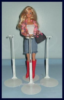 3 WHITE KAISER Doll Stands For Monster High BARBIE Fashion Royalty Momoko