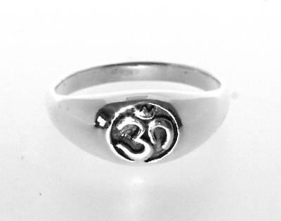 Sterling Silver Ohm Om Aum Buddhism Buddhist Buddha Hindu Yoga Ring Size 7