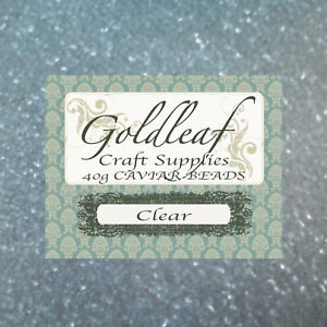 Clear-Craft-Beads-Balls-40g-GREAT-PRICE