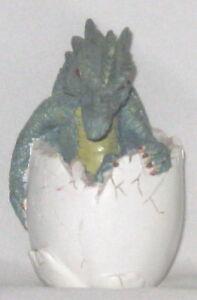 "Green White 3.5"" Pottery Hatching Dragon Kinglet Egg"