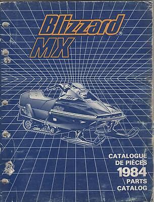 1984 SKI-DOO SNOWMOBILE BLIZZARD MX  PARTS  MANUAL