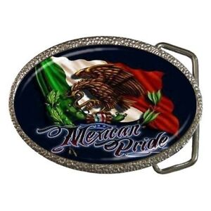 Mexican Pride Mexico Belt Buckle New!