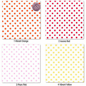 SOFT-COTTON-100-CLOTHES-DRESS-FABRIC-3MM-MULTI-COLORED-POLKA-DOT-ON-WHITE-58-034-W