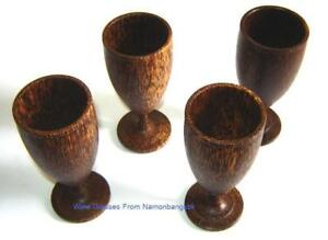 Set-4-Handmade-Browns-and-Wood-Thai-Art-Wooden-Wine-Glass-Glasses-Gift